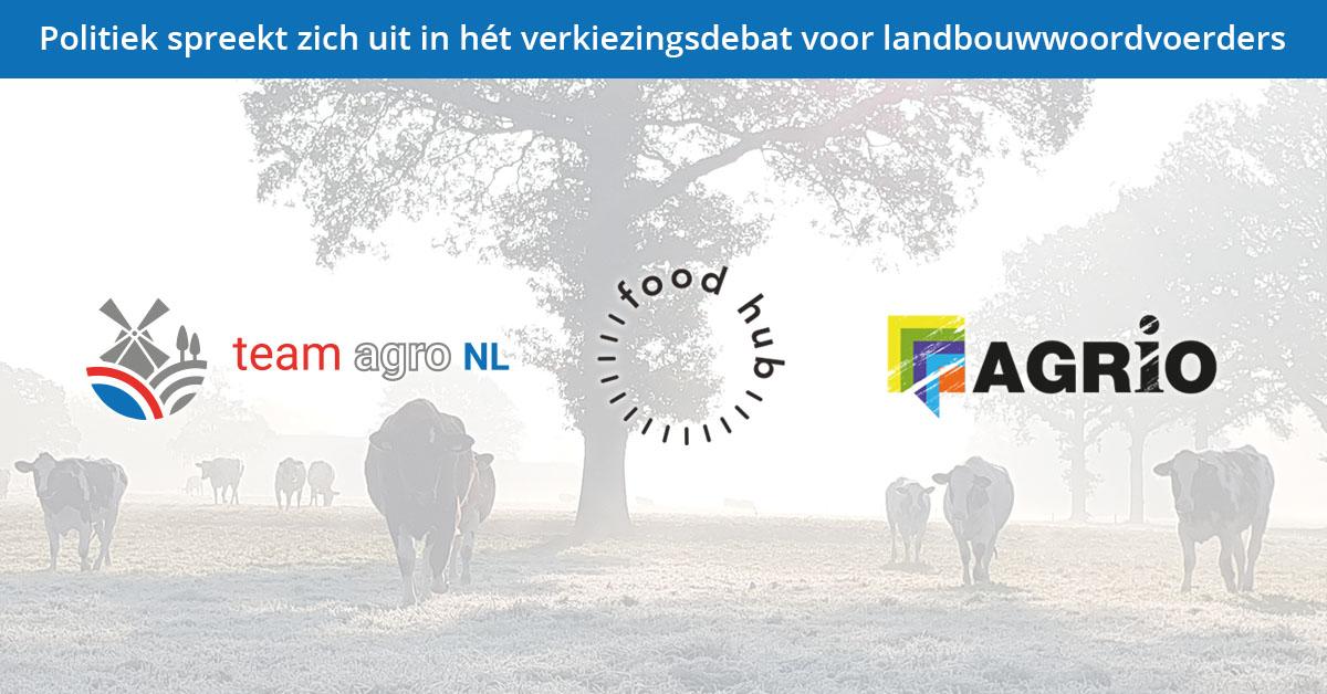 Verkiezingsdebat voor landbouwwoordvoerders